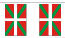 BASQUE BUNTING - 3 METRES 10 FLAGS